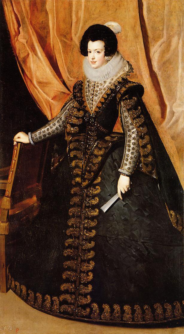 Retrato de la reina Isabel de Borbón, por Velázquez
