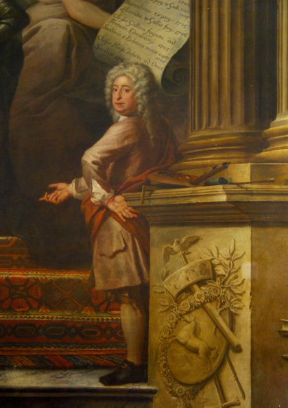 Self portrait, detail of a painting in the [[Painted Hall]] of the Greenwich Hospital, Greenwich, London