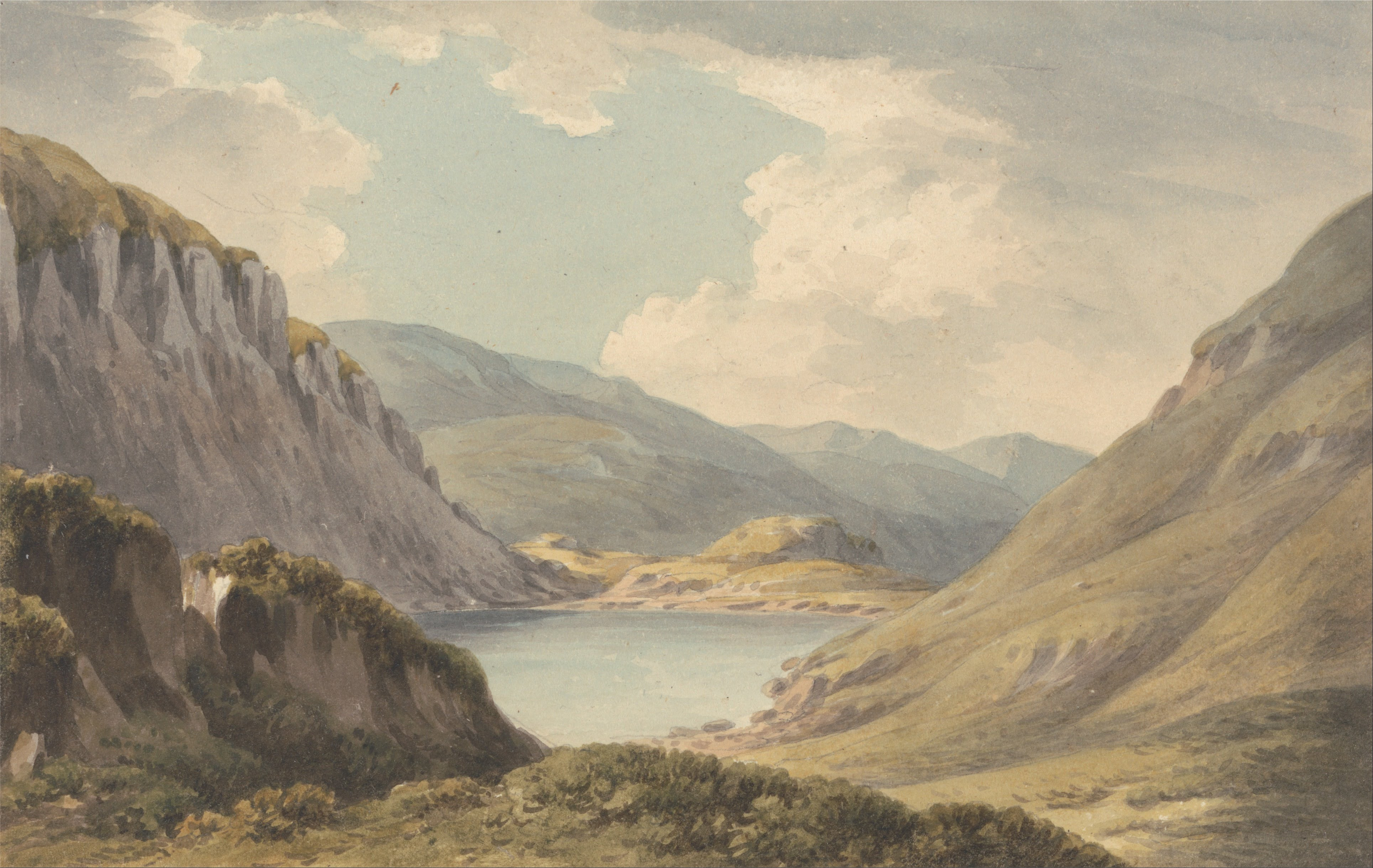 File:John Warwick Smith - Llyn Geirionedd not Far from Trefriew, on the River Conway, Carnarvonshire - Google Art Project.jpg - Wikimedia Commons