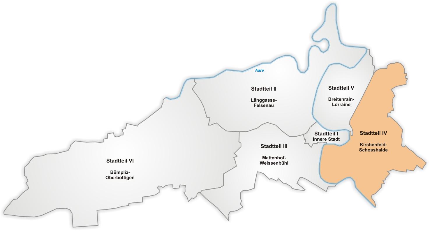 Lage von Kirchenfeld-Schosshalde