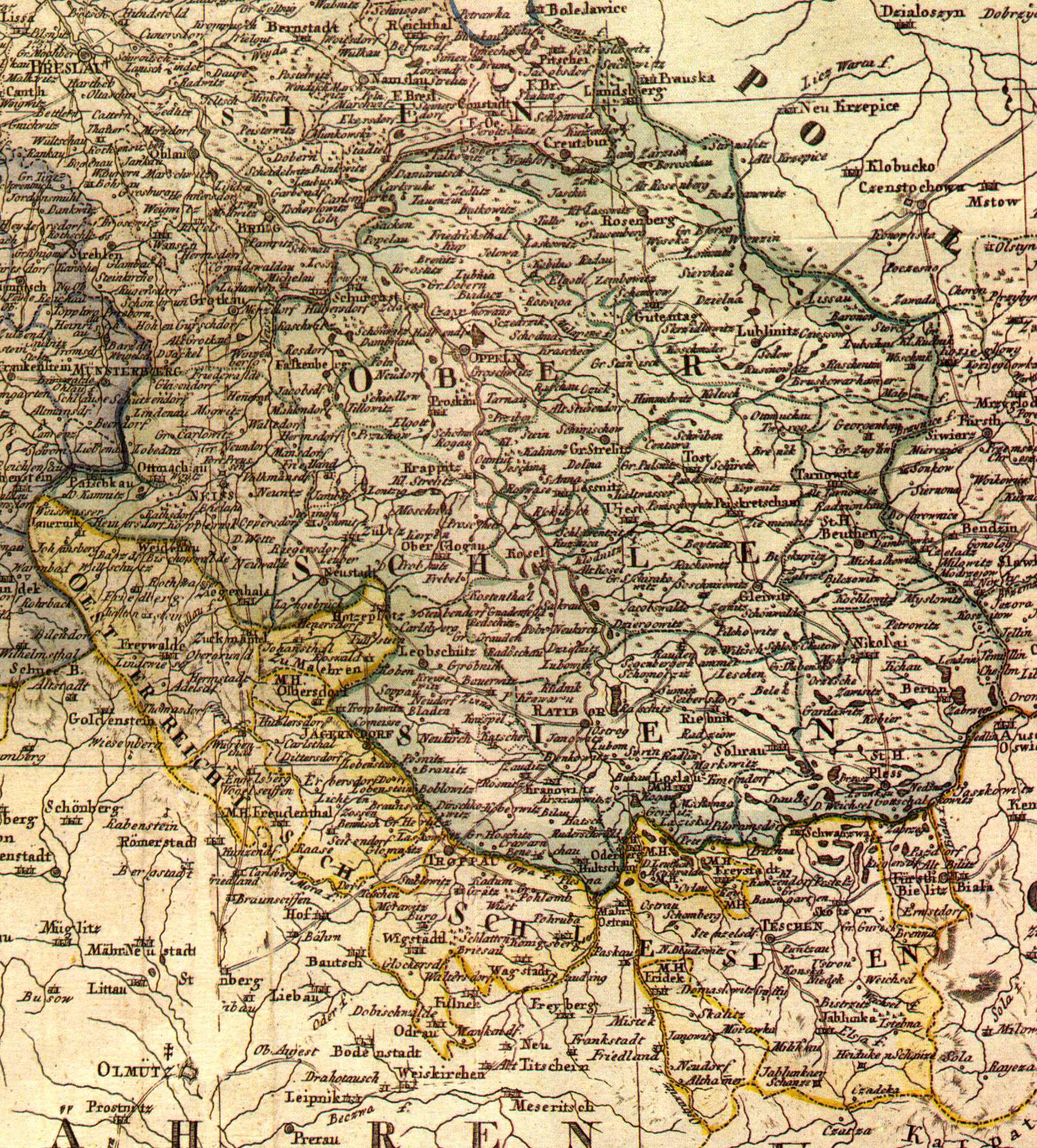 File Karte Oberschlesiens 1818 Jpg Wikimedia Commons