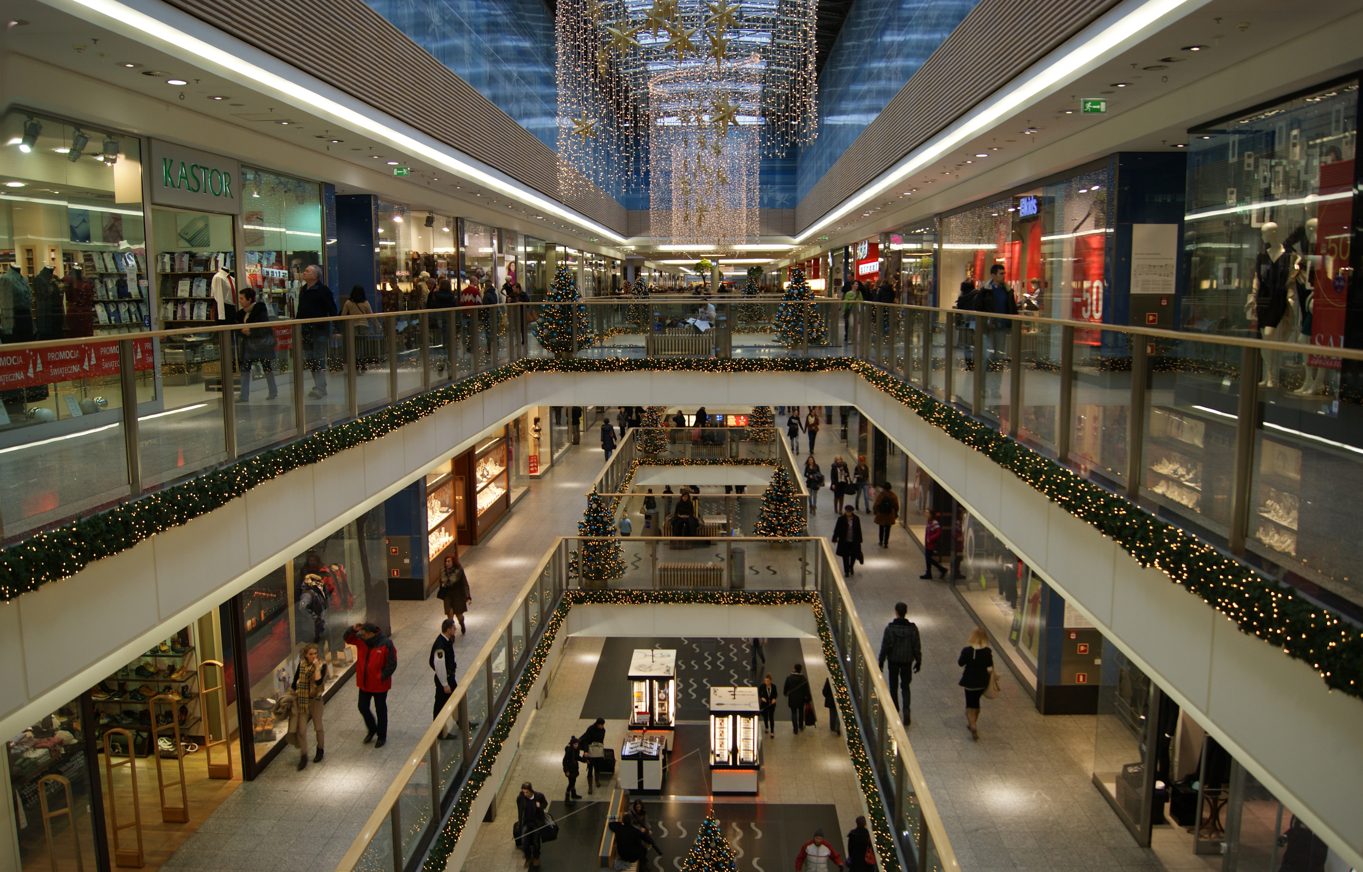 File Krakow Shopping Mall Interior Pawia Street Krakow