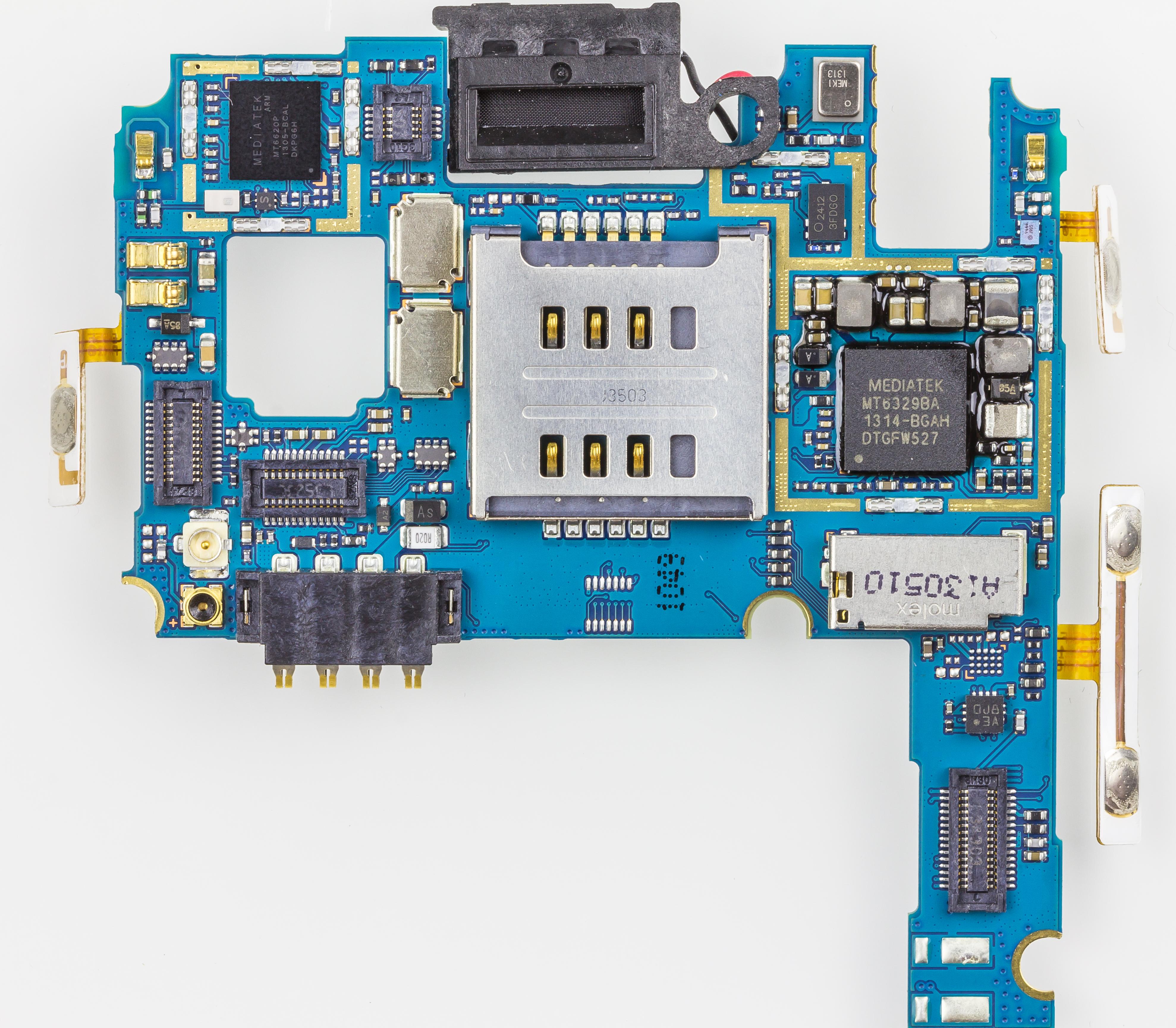 Filelg E455 Optimus L5 Ii Dual Upper Printed Circuit Board 3154 Lg E 455 4 Gb White 3152
