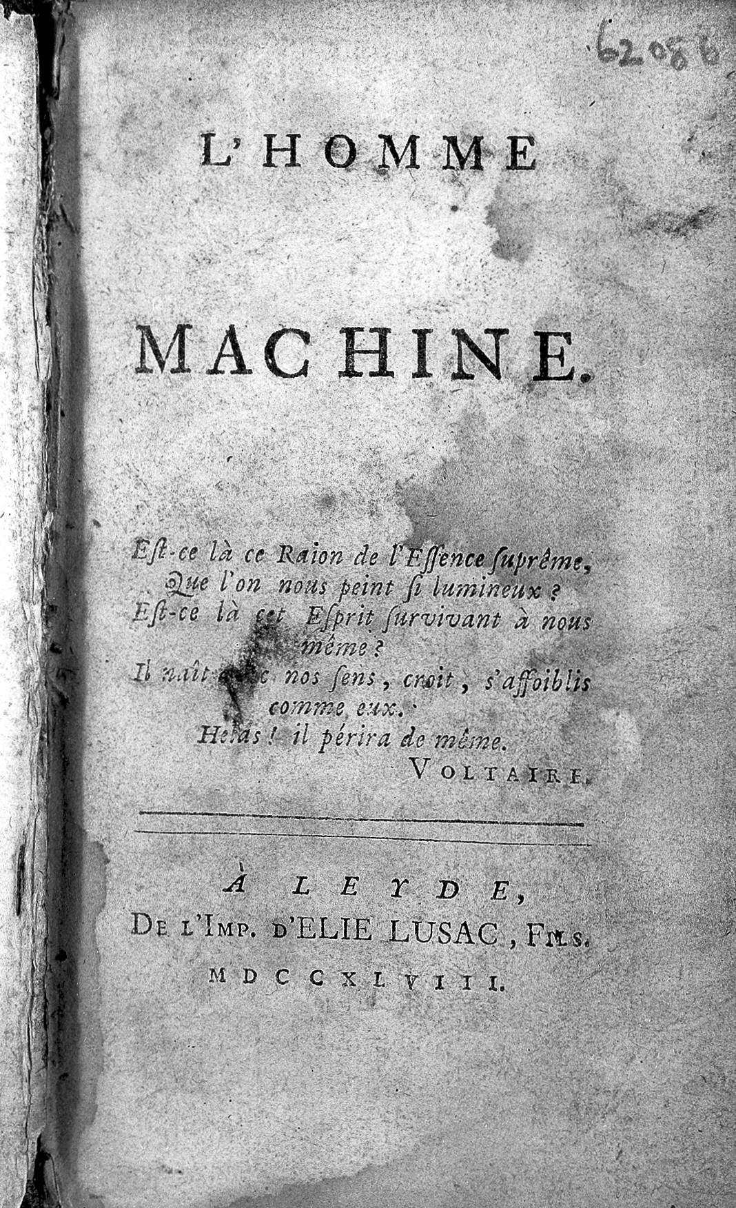 LHOMME MACHINE LA METTRIE PDF DOWNLOAD