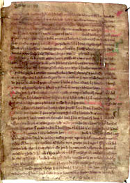 A page from a vellum manuscript of the Landnamabok in the Arni Magnusson Institute for Icelandic Studies in Reykjavik, Iceland LandnamabokManuscriptPage.jpg