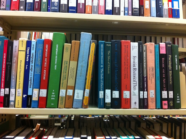 Filelanguage And Rhetorics Books On Library Shelfjpg Wikimedia