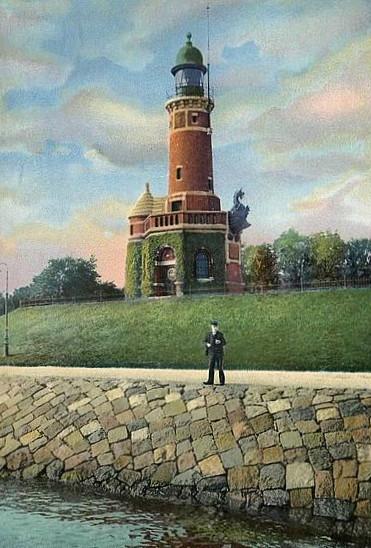 Leuchtturm Holtenau 1900b