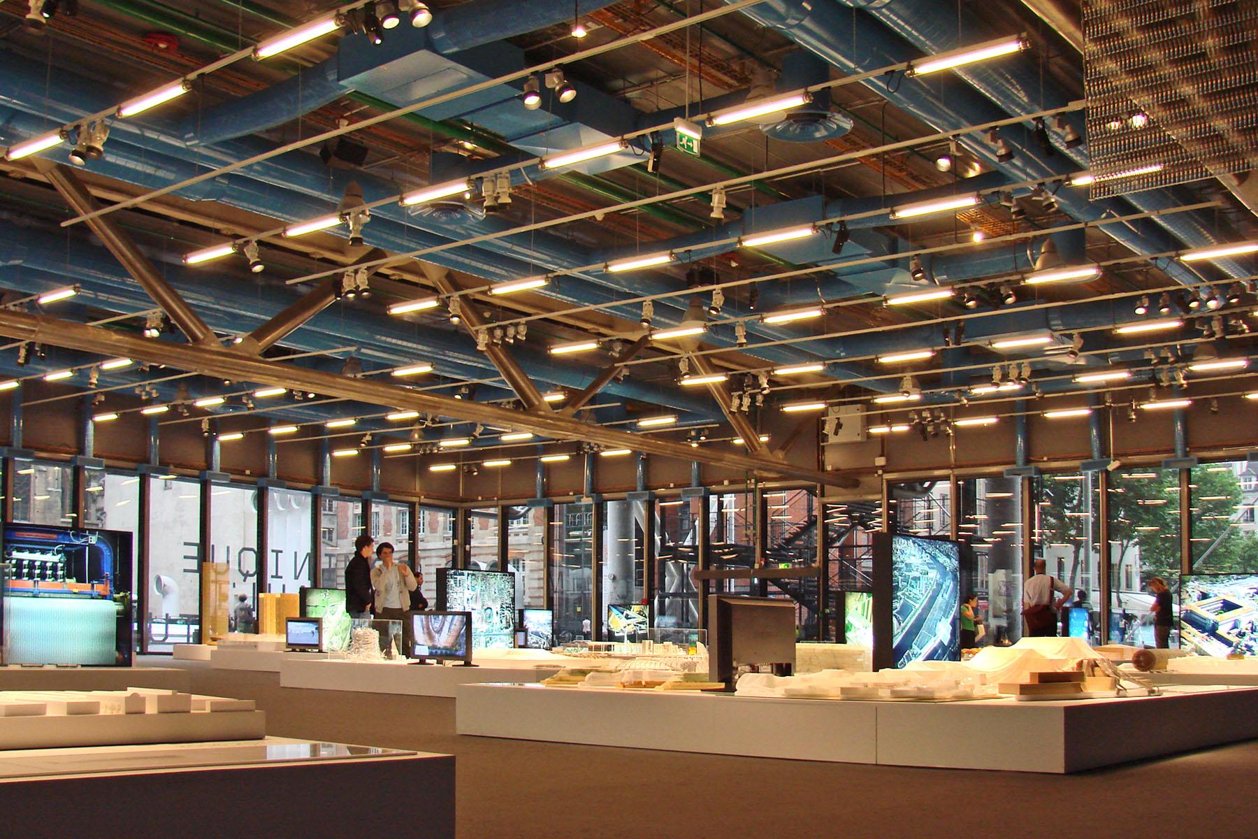 File lexposition dominique perrault architecture au centre - Centre george pompidou architecture ...