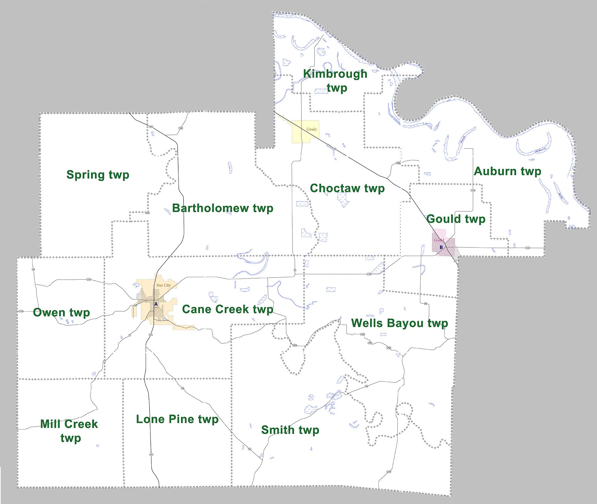 File Lincoln County Arkansas 2010 Township Map Large Jpg Wikimedia