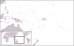 Location of Phoenix Islands
