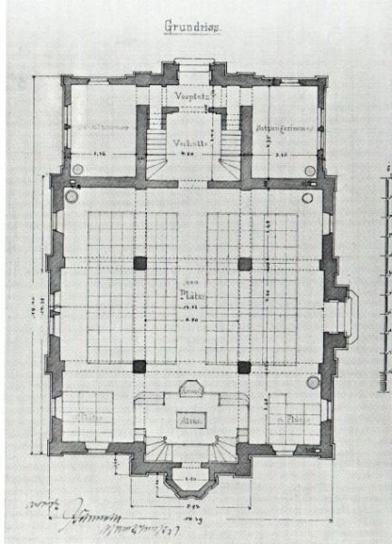 file ludwigsburg synagoge architect drawing. Black Bedroom Furniture Sets. Home Design Ideas