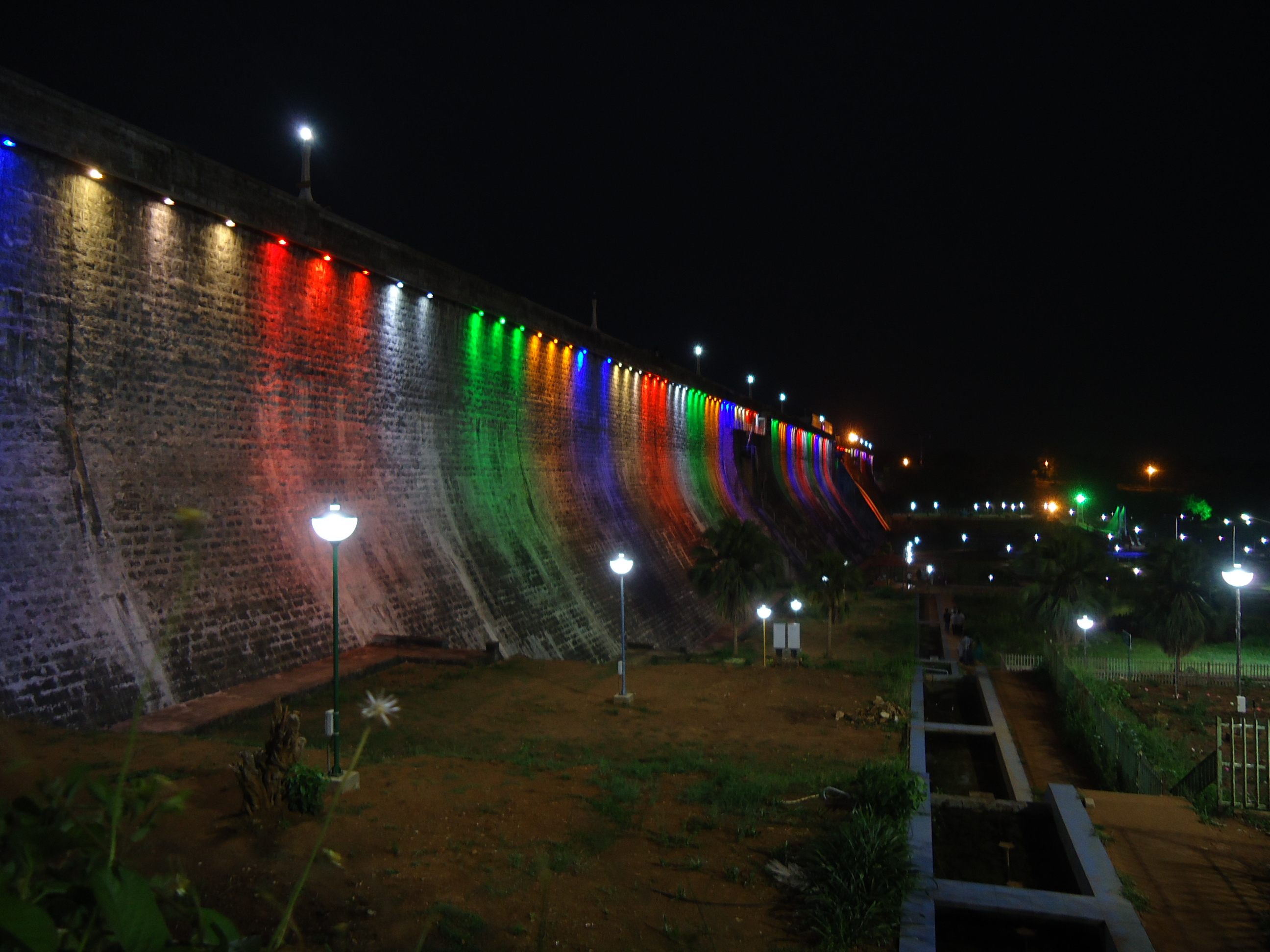 description malampuzha garden fancy lights at night jpg