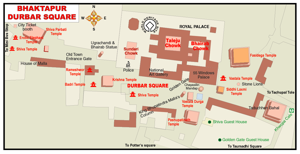 Ktm Wikipedia >> File:Map of Bhaktapur Durbar Square.jpg - Wikimedia Commons