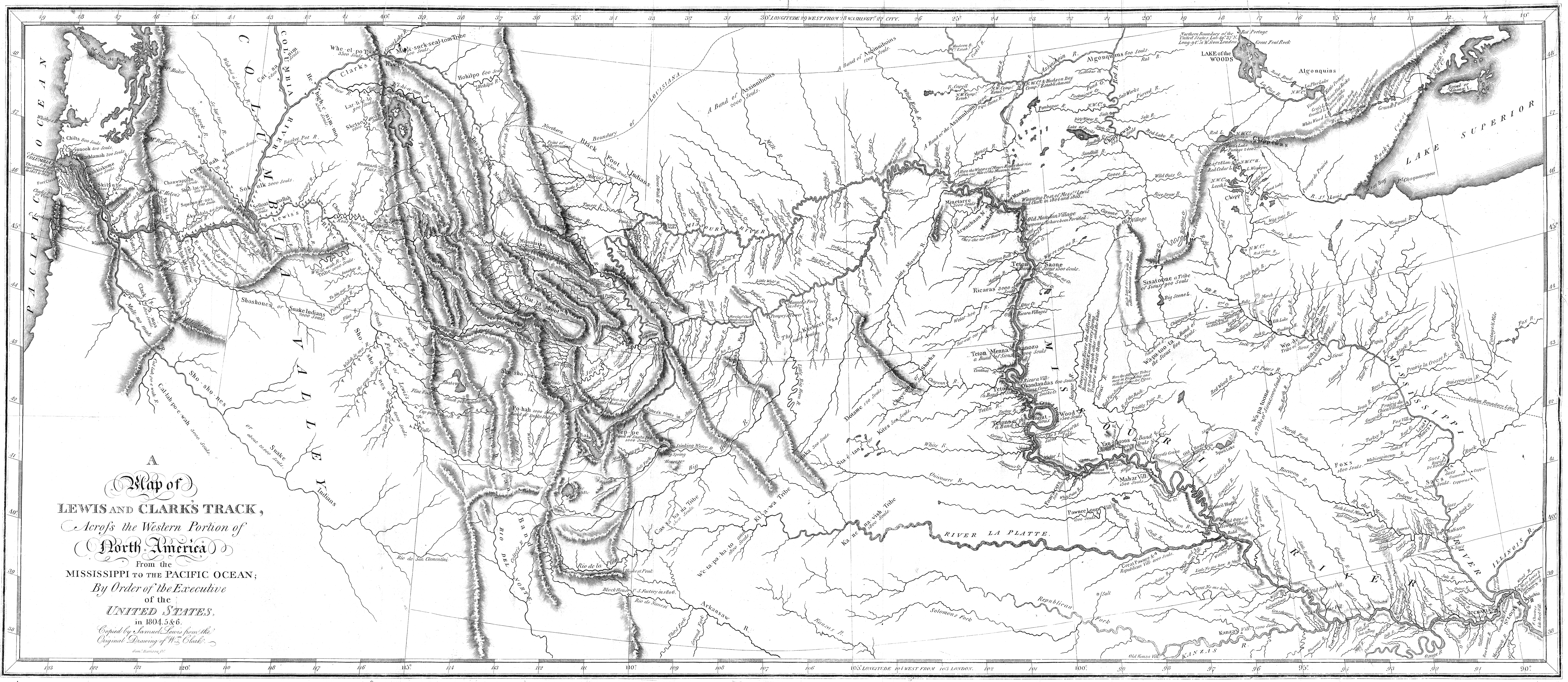 FileMap Of Lewis And Clarks Track Across The Western Portion Of - Us map 1814