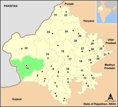 Map rajasthan dist Barmer