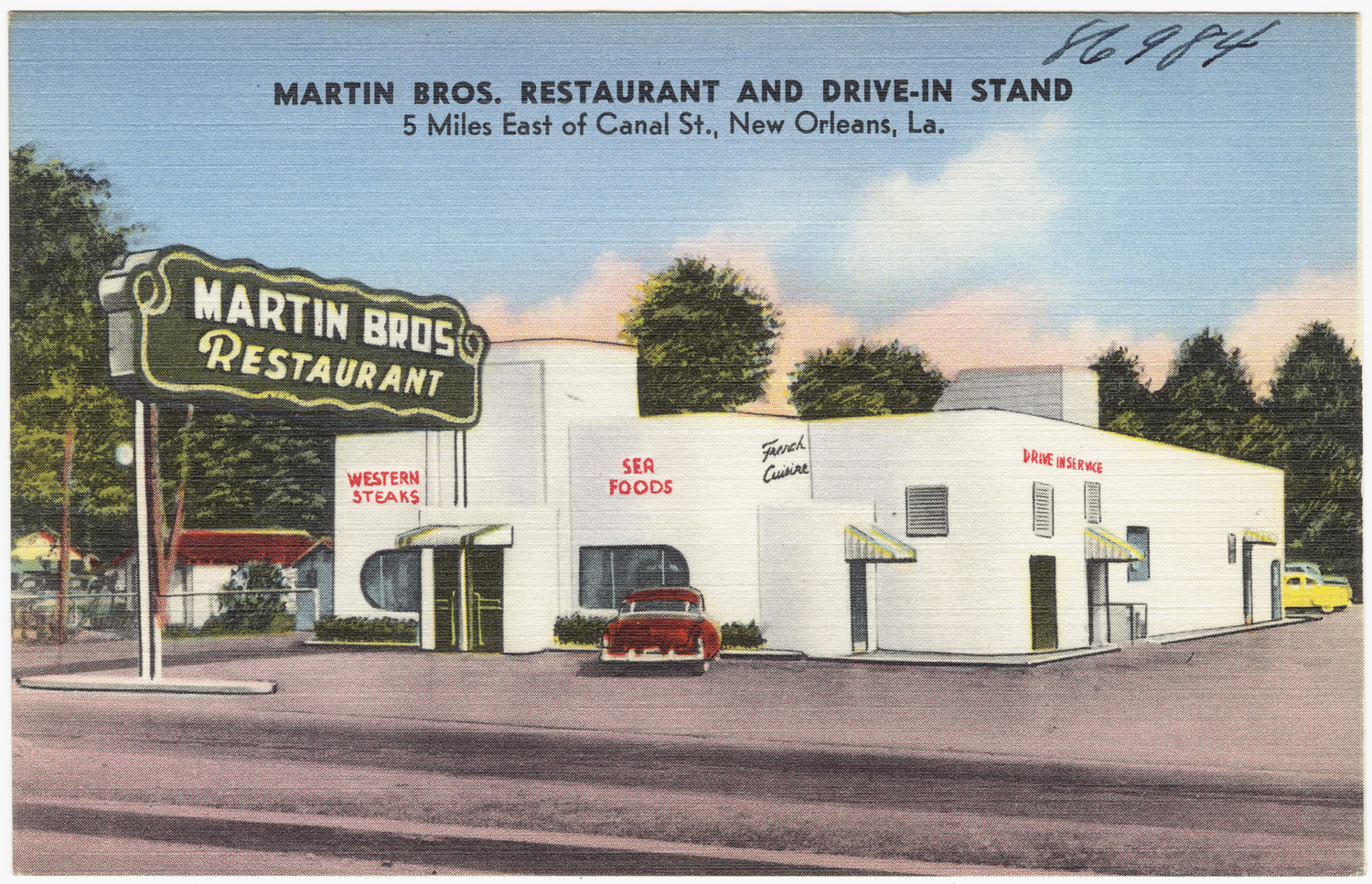 file martin bros restaurant and drive in stand 5 miles east of canal st new orleans la jpg. Black Bedroom Furniture Sets. Home Design Ideas