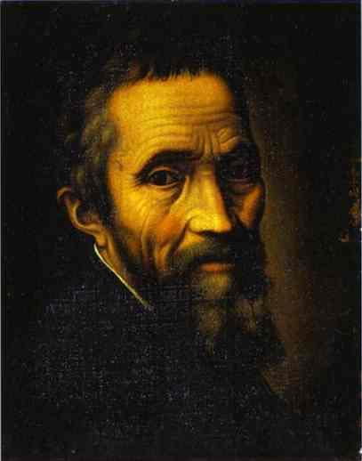 """""""Portrait of Michelangelo at the Time of the Sistine Chapel"""" by Marcello Venusti, about 1535."""