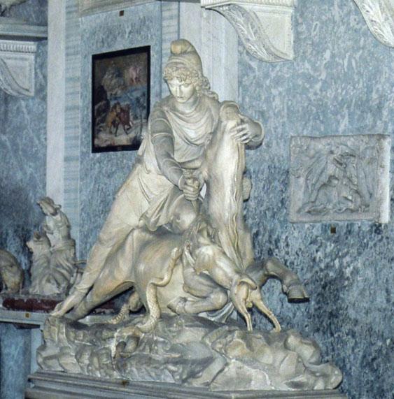 مجسمه میترا در موزه  واتیکان.
