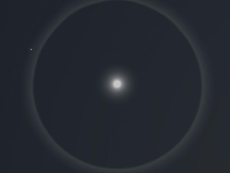 Ring Around Moon At Night