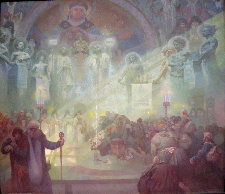 Mucha, Alfons - Der Heilige Berg Athos - 1926.jpg