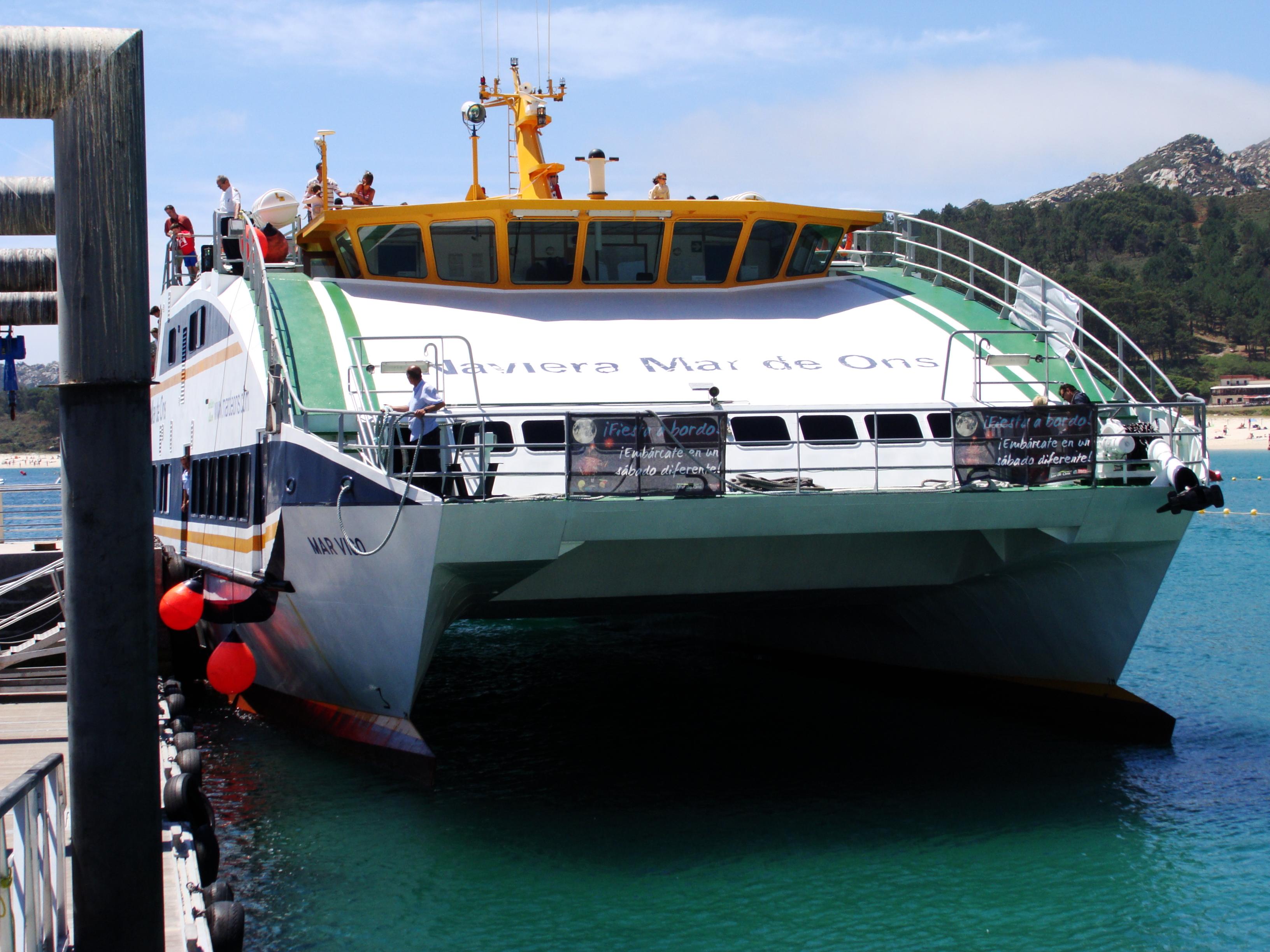 English: Cíes's Dock, in Cíes Islands, Ponteve...