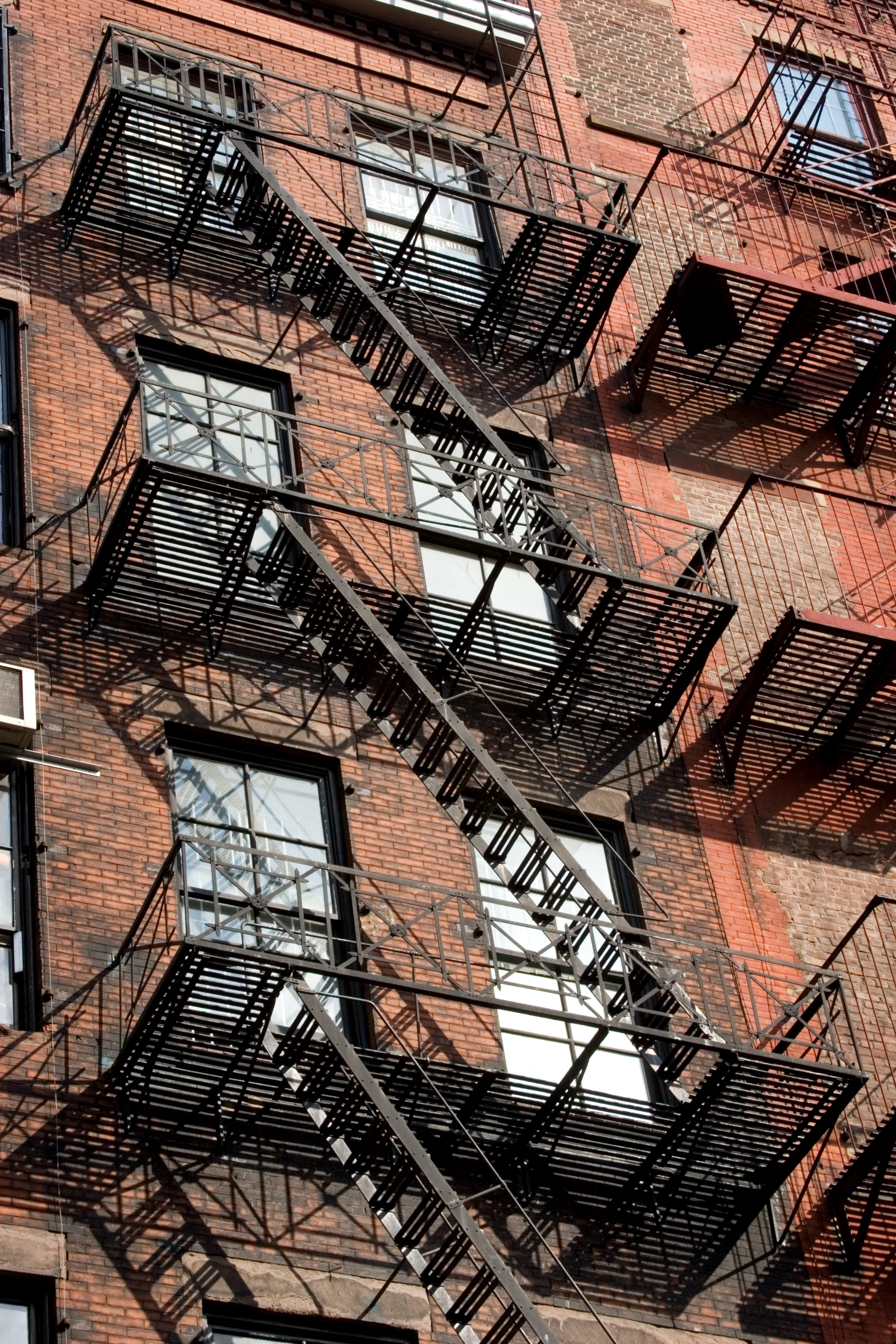 Apartment Building Fire Escape Ladder file:nyc - buildings with fire exit ladders - 0200 - wikimedia