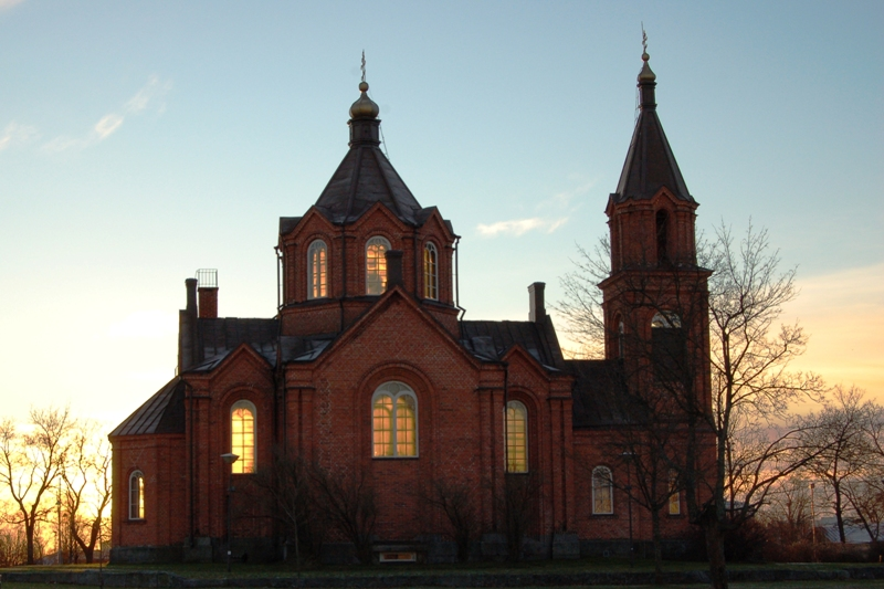 The 19th century Uspenski Cathedral in Helsinki.