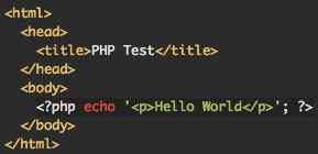 Syntax-highlighted PHP code