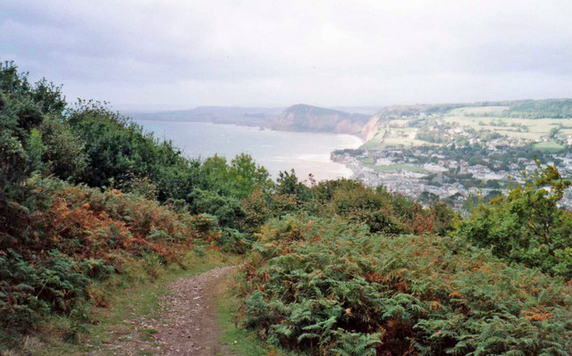 Path down Salcombe Hill to Sidmouth, Devon - geograph.org.uk - 678473