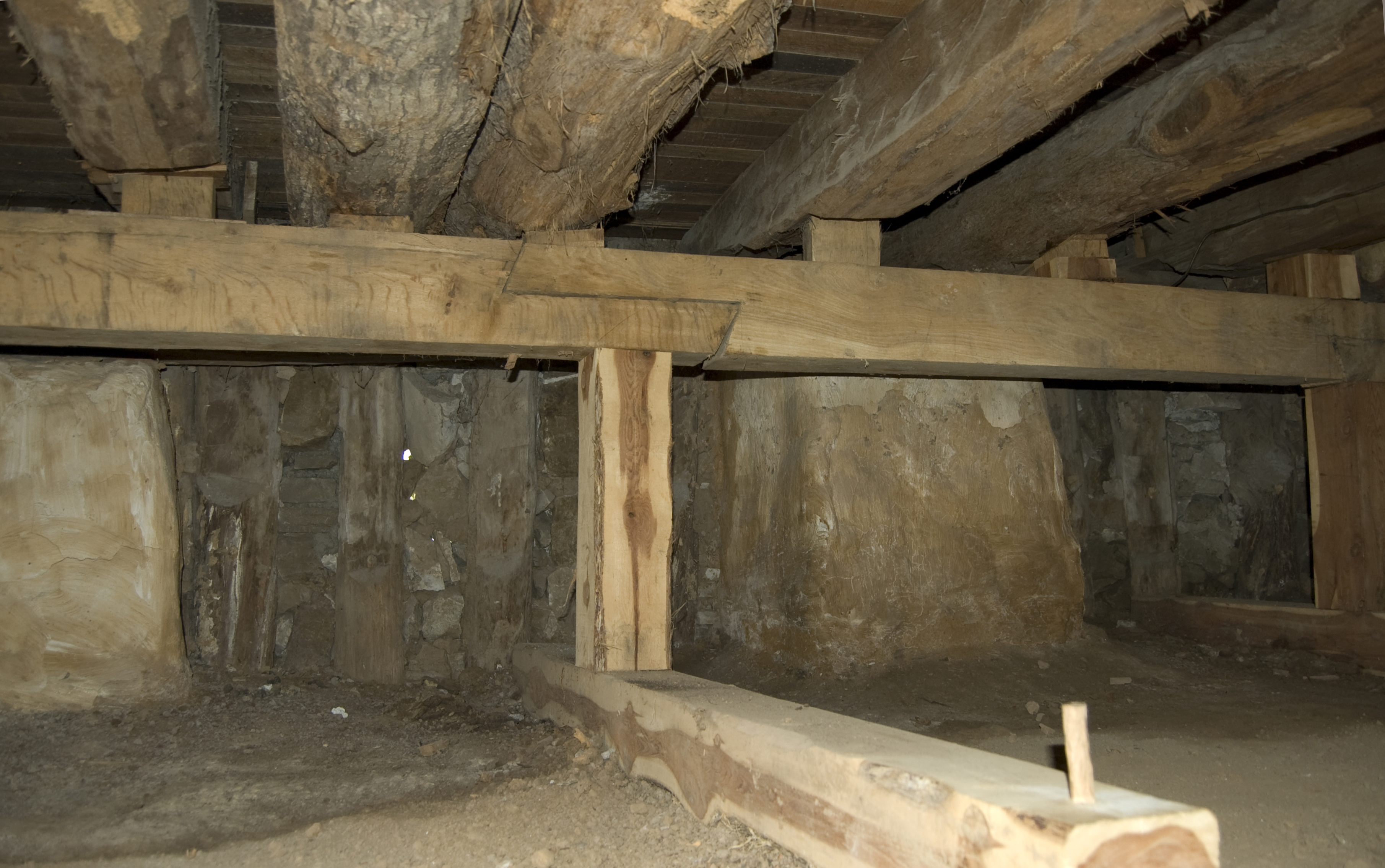 Marvelous File:Photograph Of The Floor Support Of The Amoureaux House In Ste  Genevieve MO.