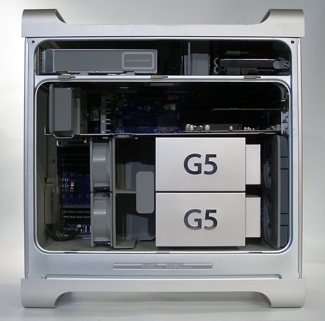 Der PowerMac G5 zeigt ein für einen Computer ungewöhnlich gut designtes Interieur. Noch heute werden die Gehäuse dieses PCs bei Moddern für nicht unerhebliche Summen gehandelt
