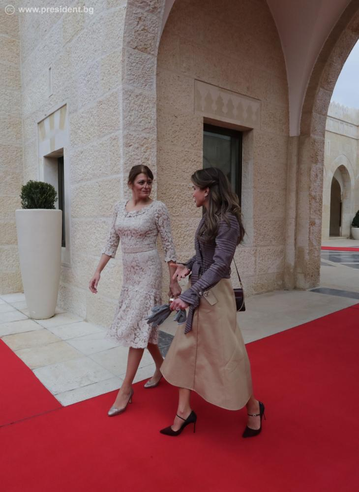 File President Rumen Radev And His Wife Desislava Radeva Were Welcomed With An Official Ceremony At The King S Palace In Amman By King Abdullah Ii And Queen Rania Al Abdullah 16 Jpg Wikimedia
