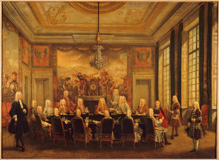 File:Régence du duc d'Orléans, Council with Cardinal Fleury.jpg