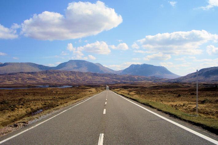 Rannoch Moor road