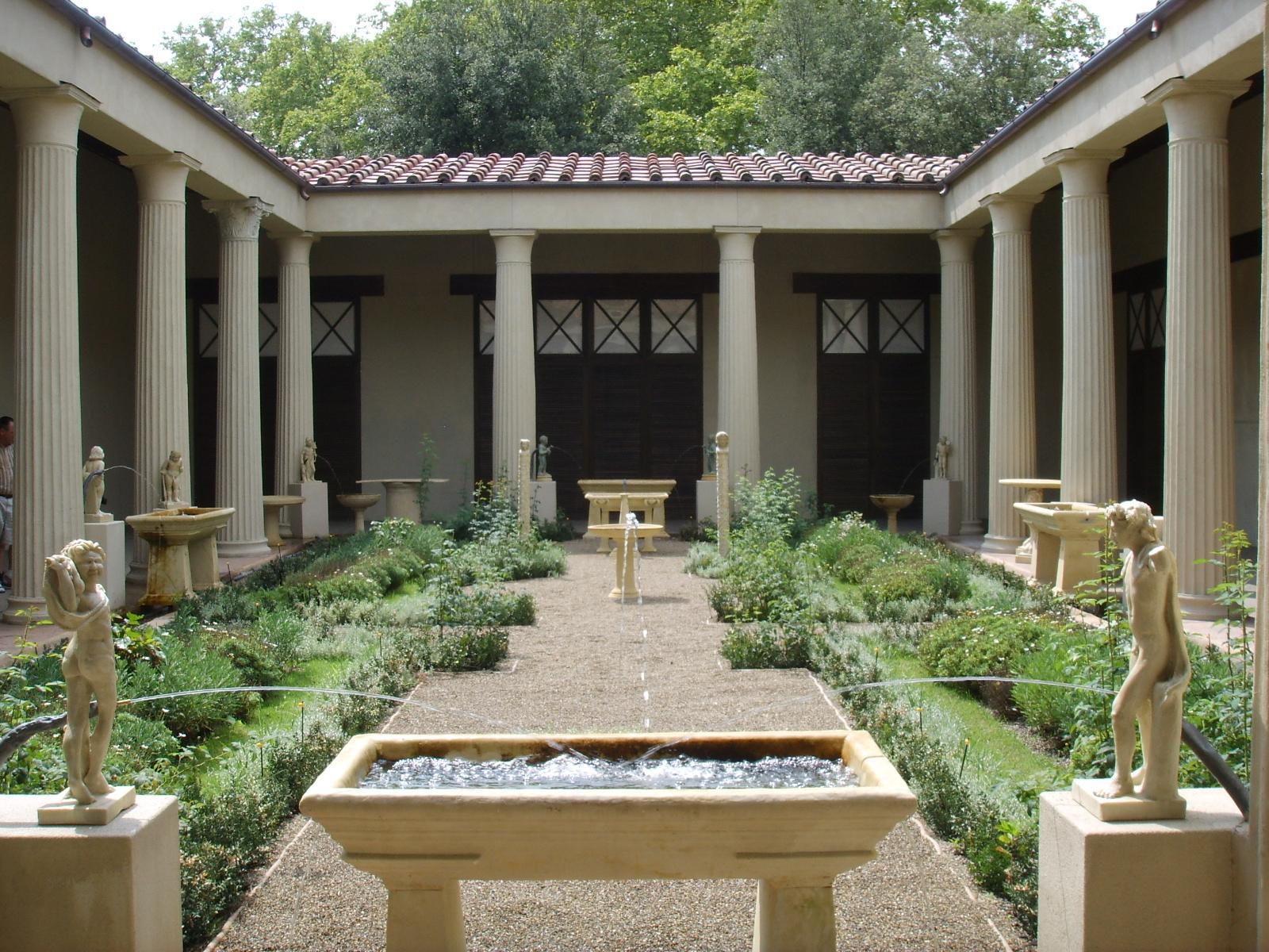 file ricostruzione del giardino della casa dei vetii di