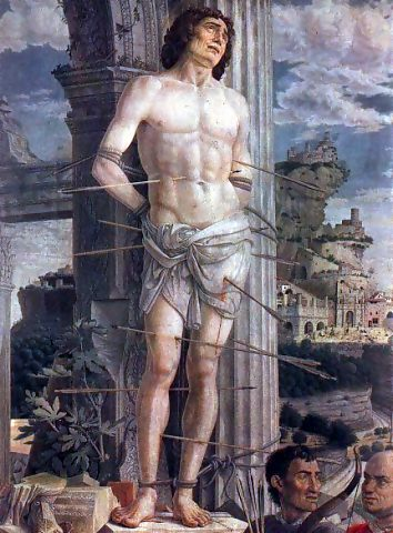 Painted by Andrea Mantegna