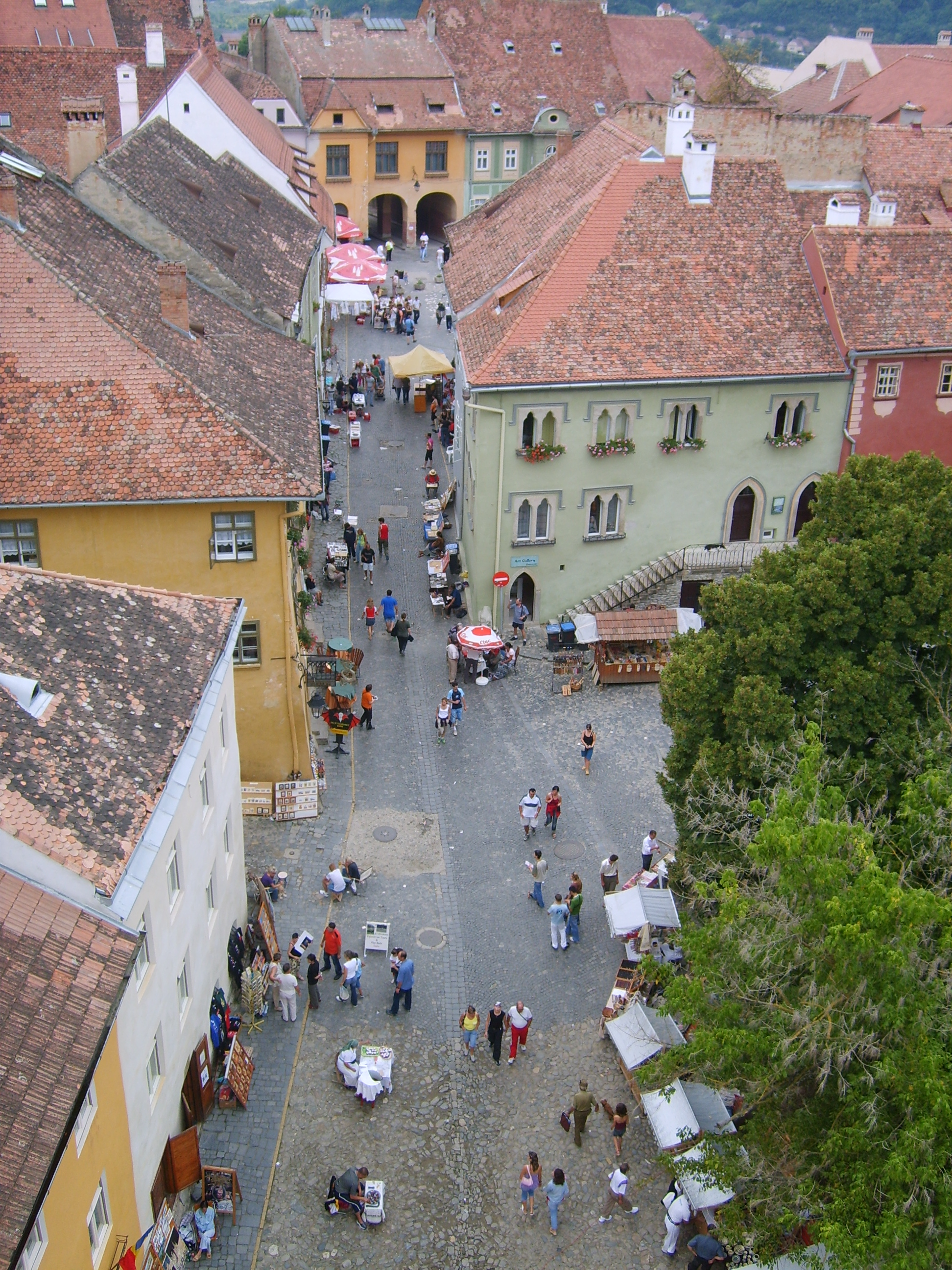 Fişier:Sighisoara view from the clock tower.jpg