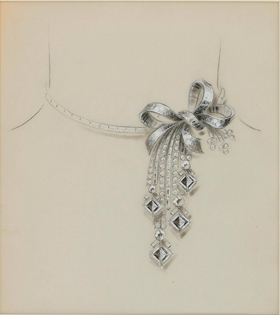 File Study For A Necklace By Van Cleef Arpels 1935 41 Jpg