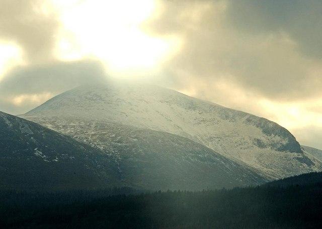 Sun, snow and Slieve Donard - geograph.org.uk - 1148118