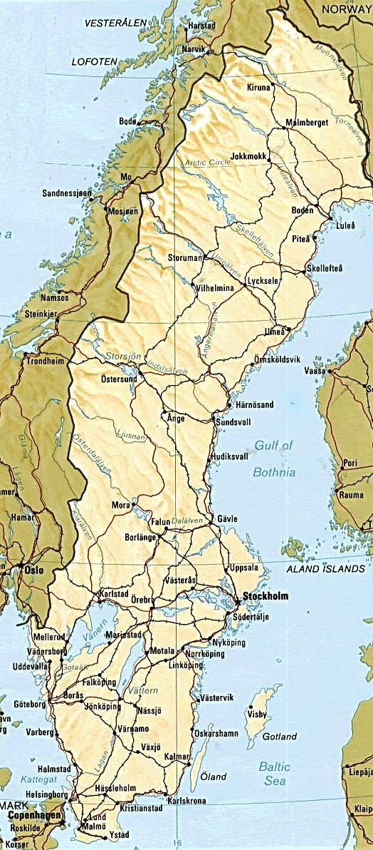 nord sverige kart Kart Sverige Og Norge Kart nord sverige kart