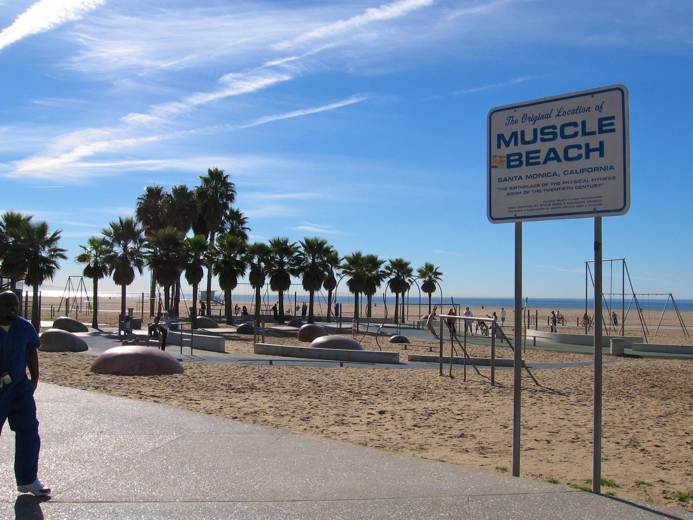 The Location Of Original Muscle Beachjpg