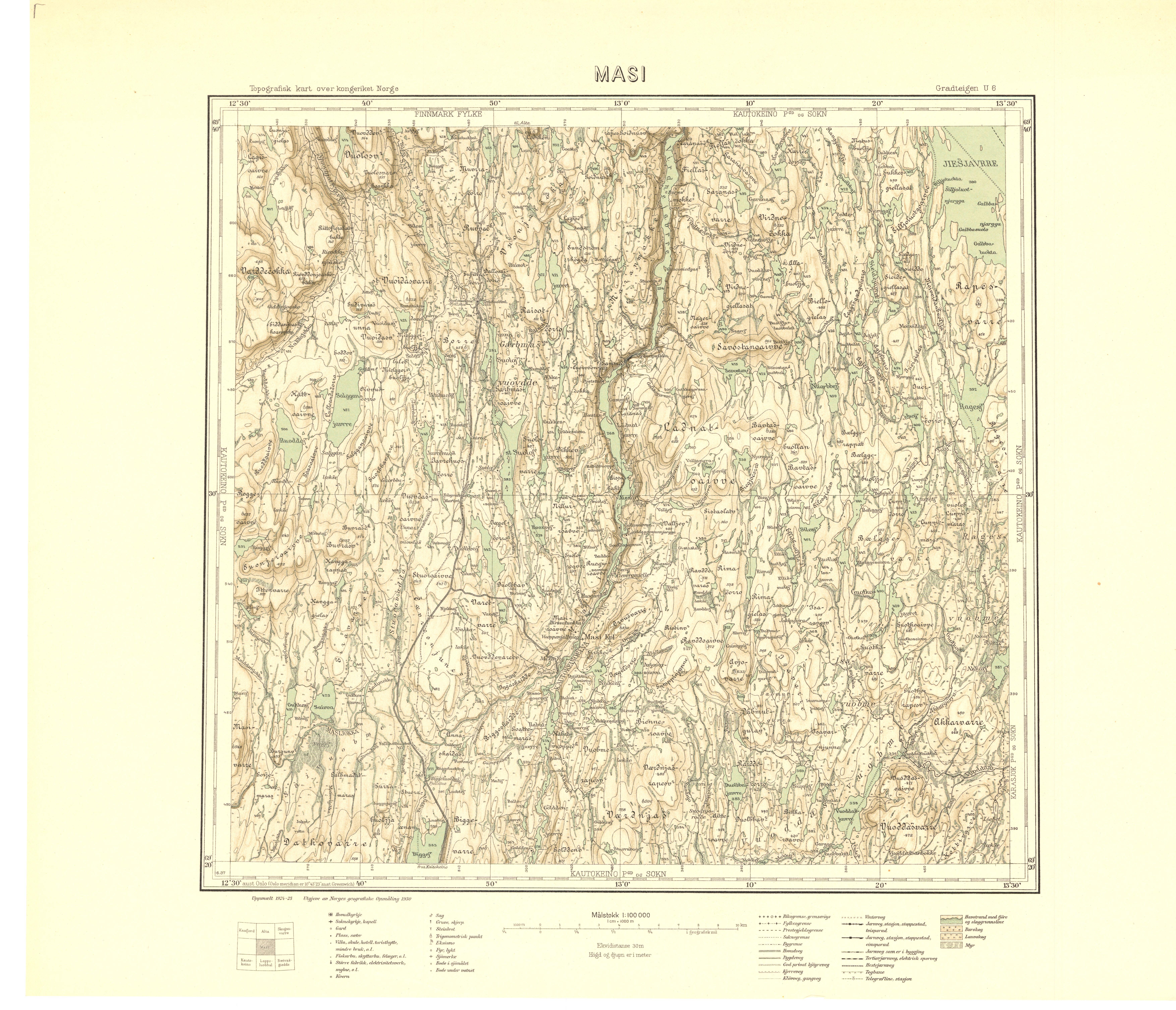 File Topographic Map Of Norway U6 Masi 1930 Jpg Wikimedia Commons