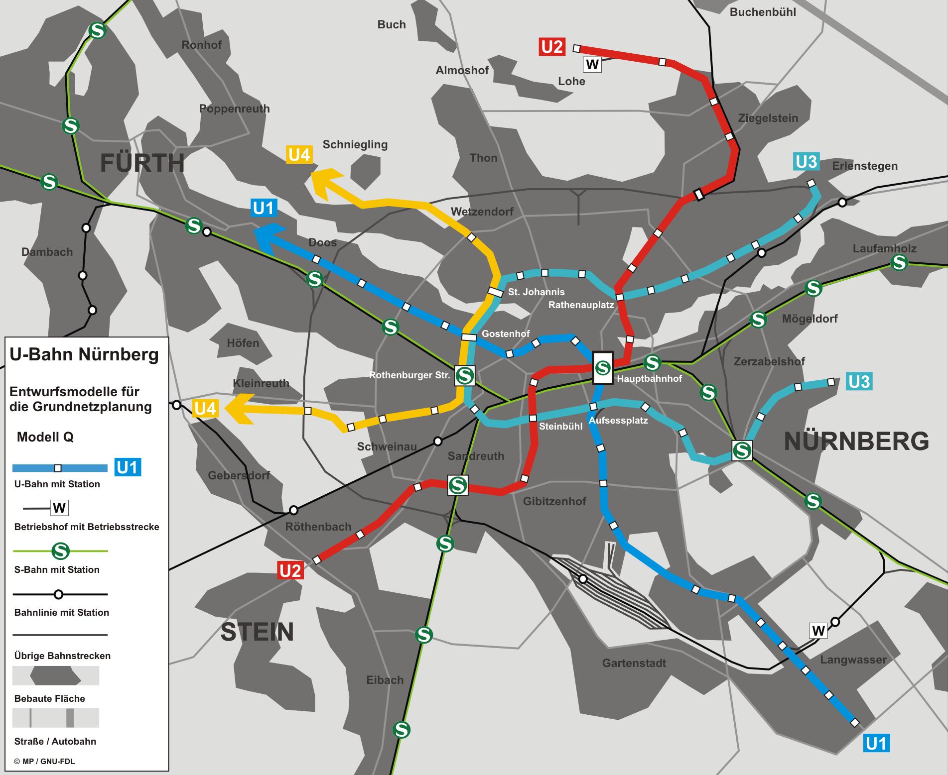 u Bahn Map Nuremberg U-bahn Nuremberg Map
