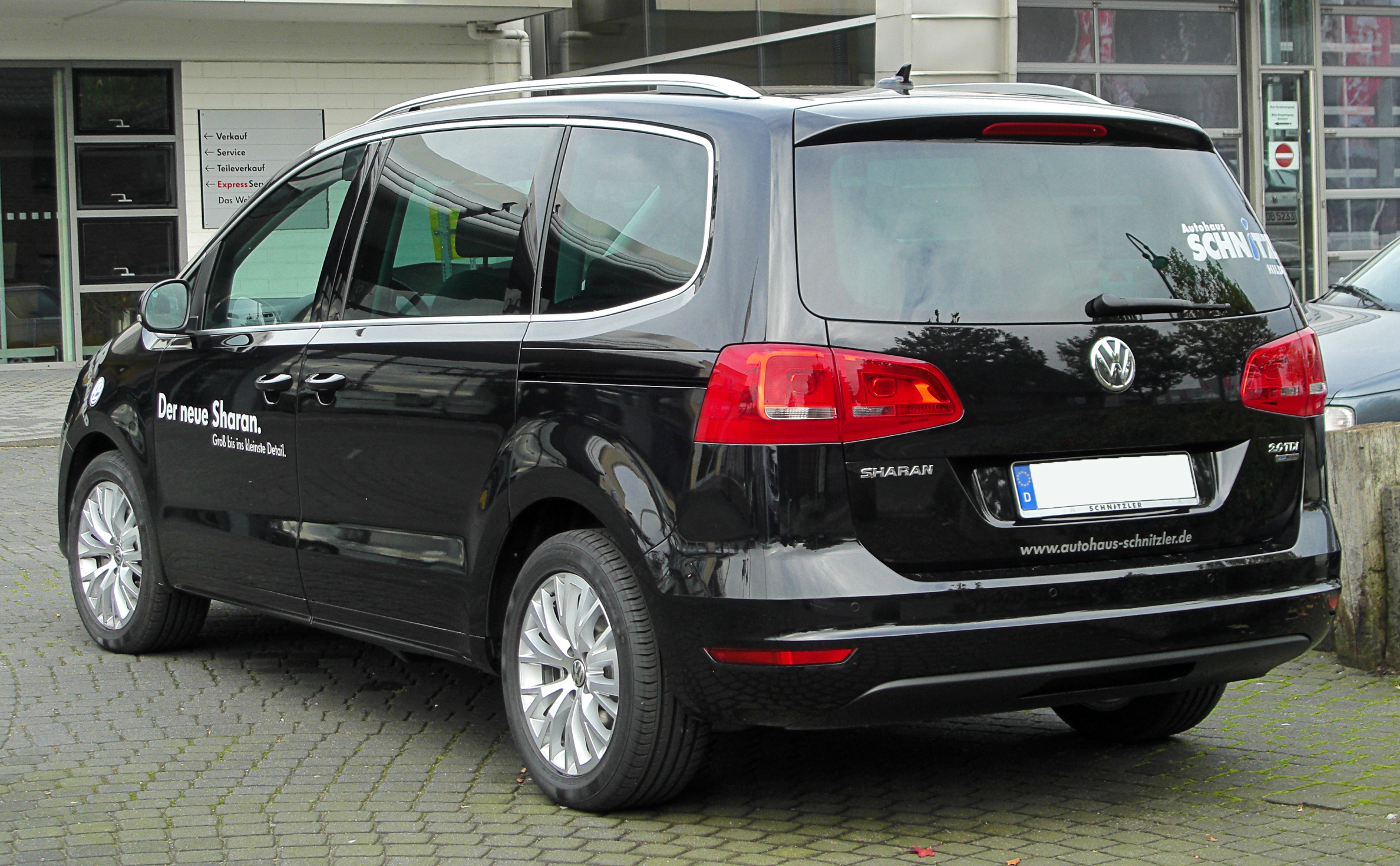 file vw sharan ii 2 0 tdi bluemotion technology highline rear. Black Bedroom Furniture Sets. Home Design Ideas