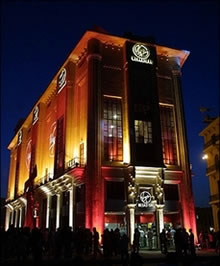 Beirut Central District, Lebanon, the first Virgin Megastore to open in the Middle East on 3 July 2001