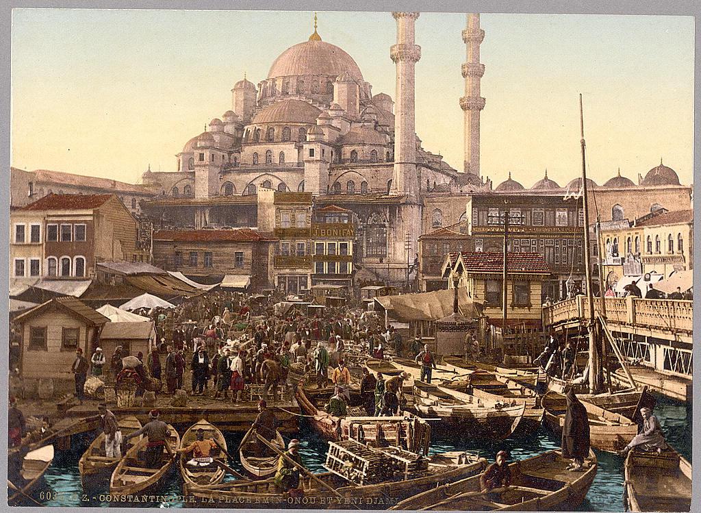 Yeni Cami mosque and Eminönü bazaar.jpg