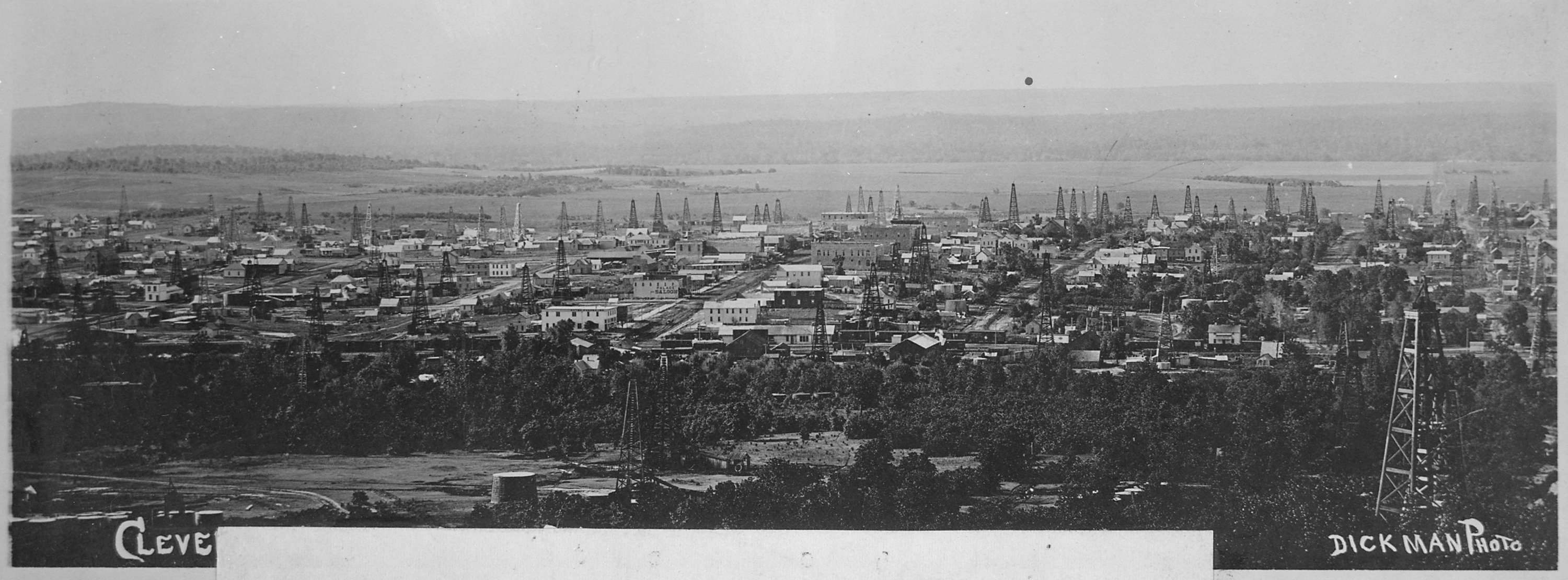 The city of oil derricks panoramic view of an oklahoma territory town a year after the discovery of oil th nara 516440 jpg