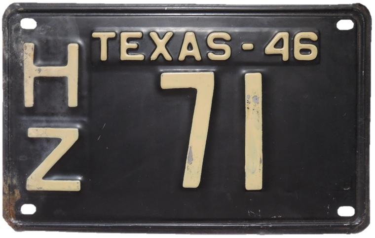 File:1946 Texas license plate HZ 71.jpg