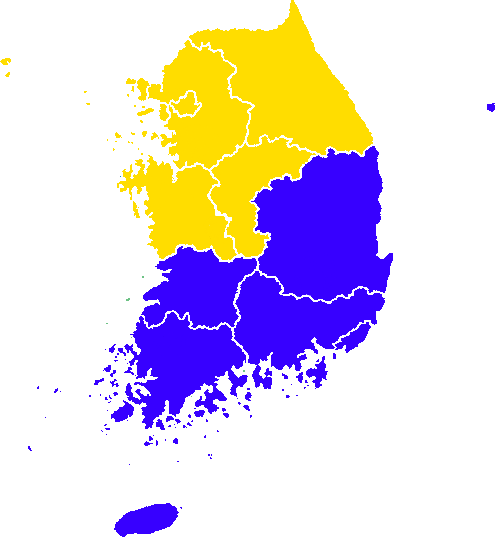 File 1963 South Korean Elections Result Map Png Wikimedia Commons