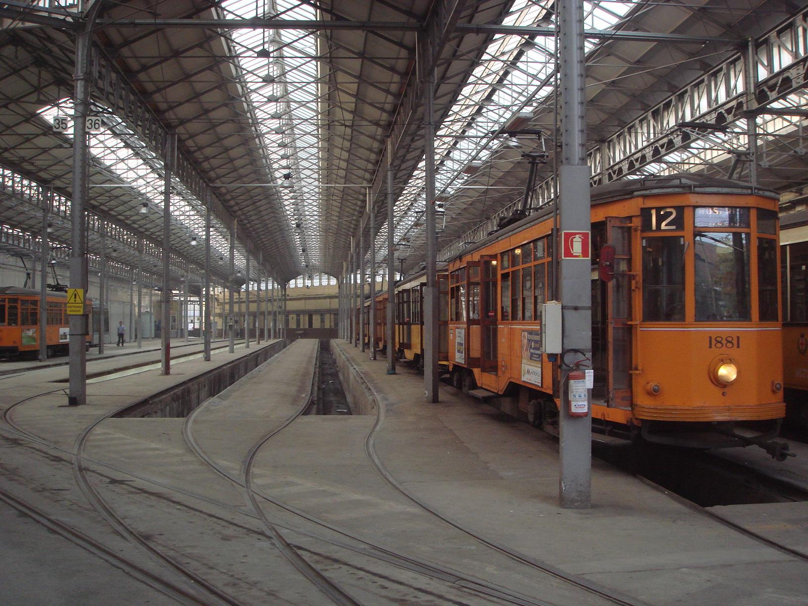 File 2112a Milano Deposito Di Tram In Via Messina